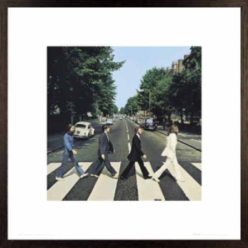 Details about THE BEATLES - FRAMED ART PRINT / POSTER (ABBEY ROAD)