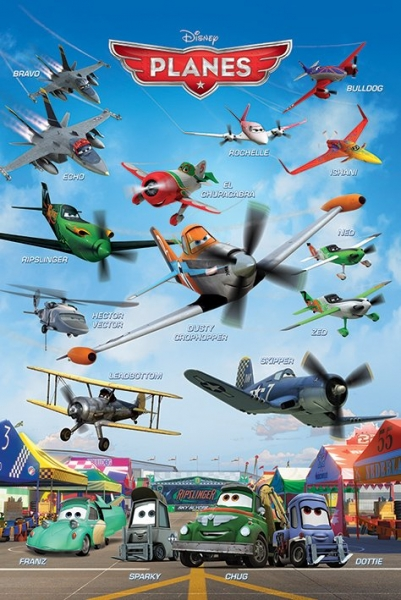 PLANES - DISNEY / PIXAR MOVIE POSTER (ALL CHARACTERS ... Planes Movie Poster