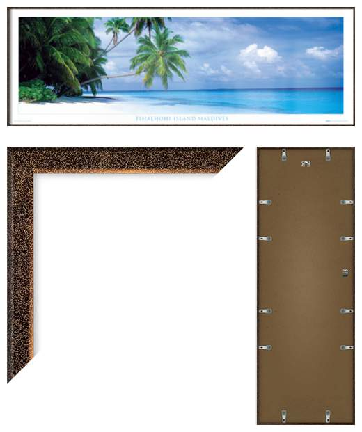 ... -ISLAND-MALDIVES-FRAMED-DOOR-POSTER-PARADISE-SIZE-62-034-X-21-034
