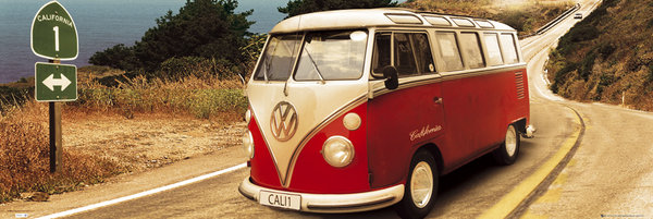 Framed VW Camper