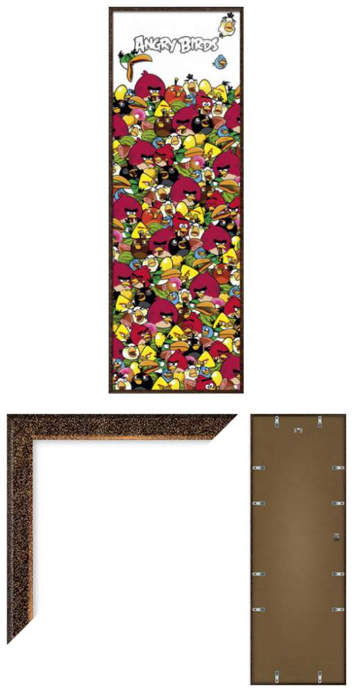 Angry Birds Framed Door Poster Print Pile Up Size