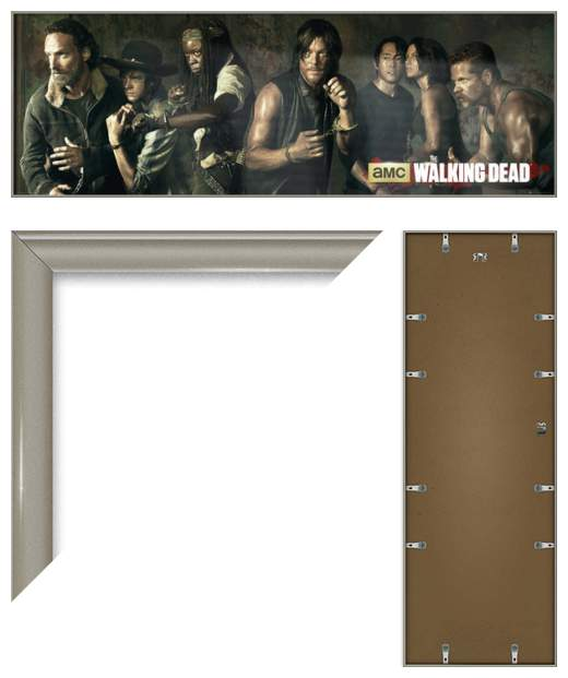 THE WALKING DEAD - FRAMED DOOR POSTER / PRINT (CHARACTERS) (SIZE: 62 ...