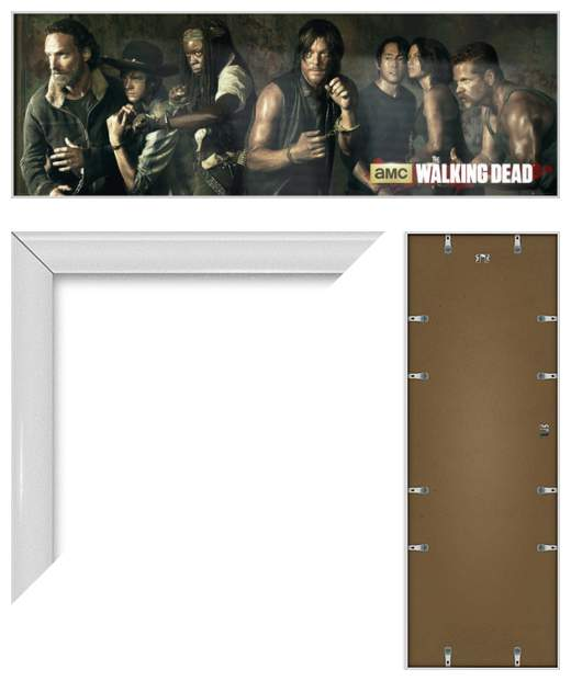 THE WALKING DEAD - FRAMED DOOR POSTER / PRINT (CHARACTERS) (SIZE: 62 x ...