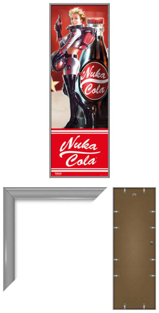 Fallout 4 Framed Gaming Door Poster Print Nuka Cola Girl Size