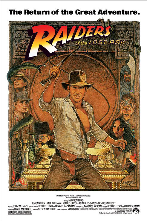 Framed Indiana Jones - Raiders Of The Lost Ark