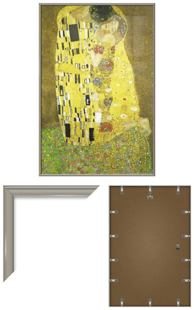THE KISS - FRAMED ART POSTER / PRINT (GUSTAV KLIMT) (SIZE: 24\