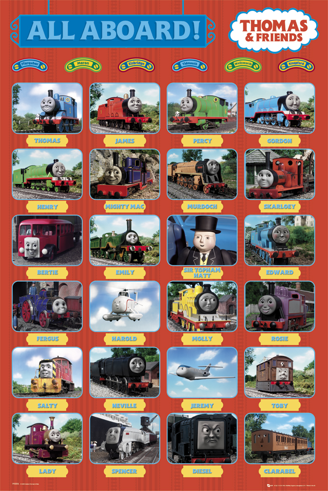 Framed Thomas the Tank Engine