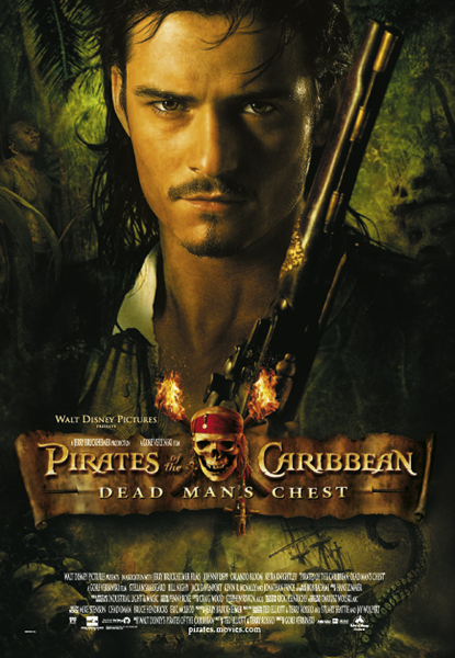 Framed Pirates of the Caribbean 2
