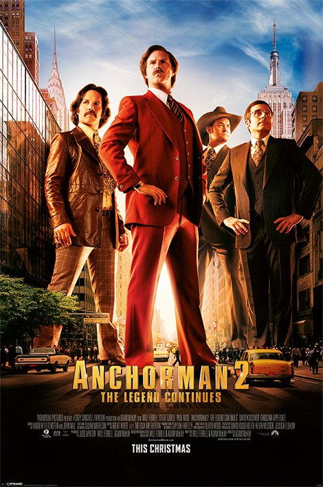 Framed Anchorman 2