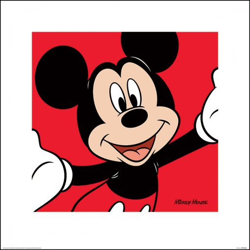 Framed Mickey Mouse