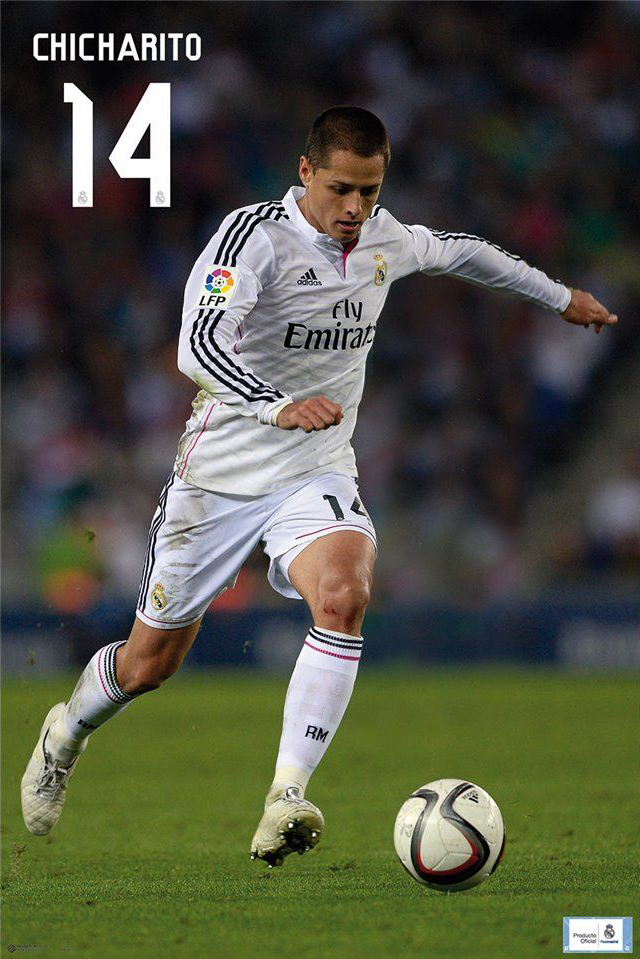 REAL MADRID - SPORTS POSTER / PRINT (JAVIER CHICHARITO ...