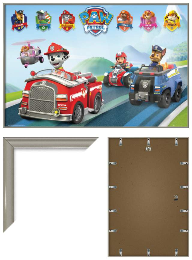 paw patrol framed tv show poster print cars size 36 x 24 ebay. Black Bedroom Furniture Sets. Home Design Ideas
