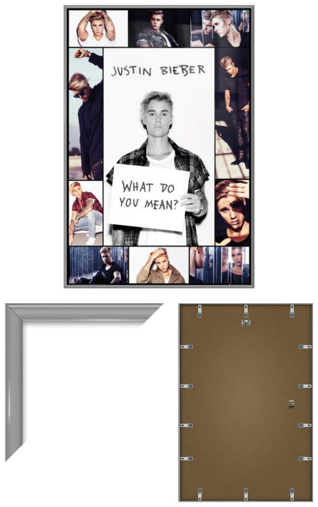 JUSTIN BIEBER - FRAMED PERSONALITY / MUSIC POSTER (PHOTO GRID ...