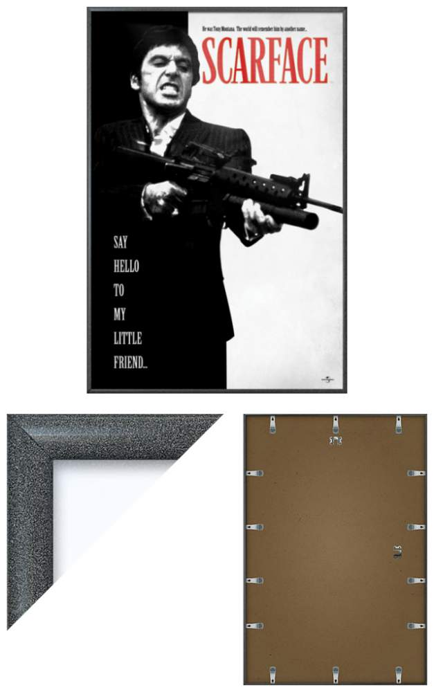 SCARFACE - FRAMED MOVIE POSTER (SAY HELLO TO MY LITTLE ...