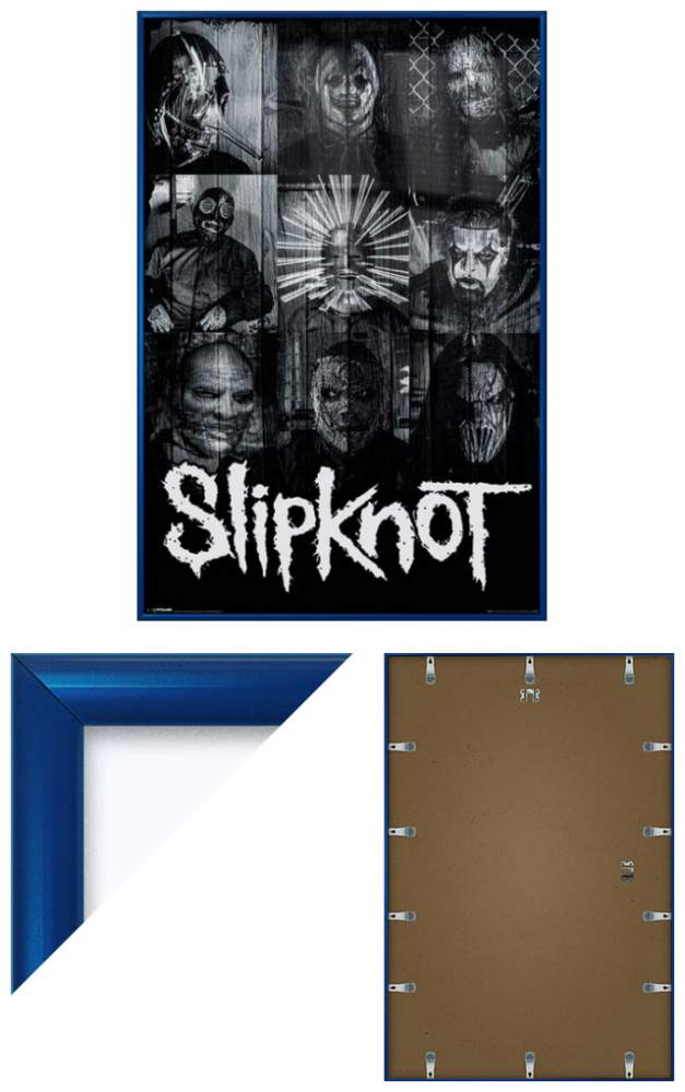 slipknot framed music poster print masks collage size 24 x 36 ebay. Black Bedroom Furniture Sets. Home Design Ideas
