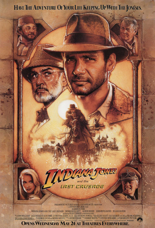 Indiana Jones and the Last Crusade framed poster