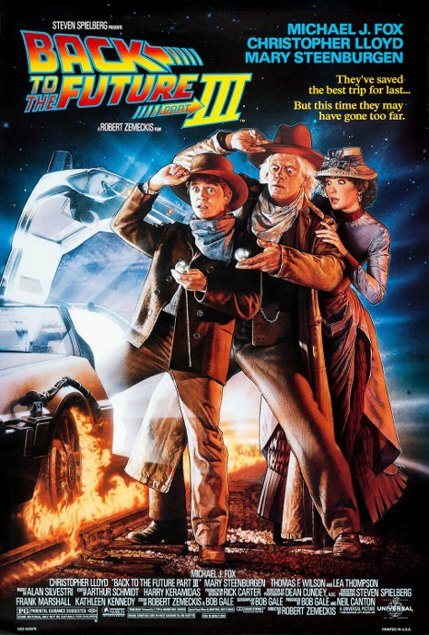 Back to the Future III framed poster