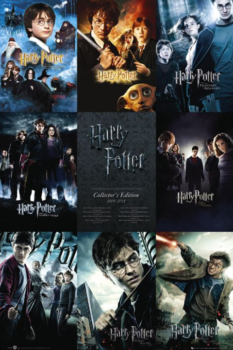 Framed Harry Potter 1-7