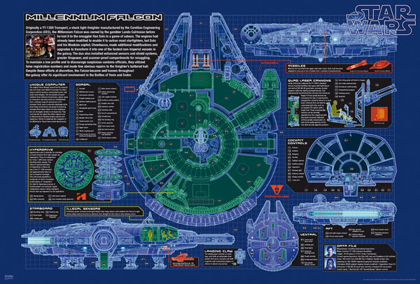 Star Wars - Millennium Falcon framed poster