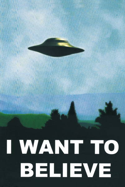 X-Files - I Want to Believe framed poster