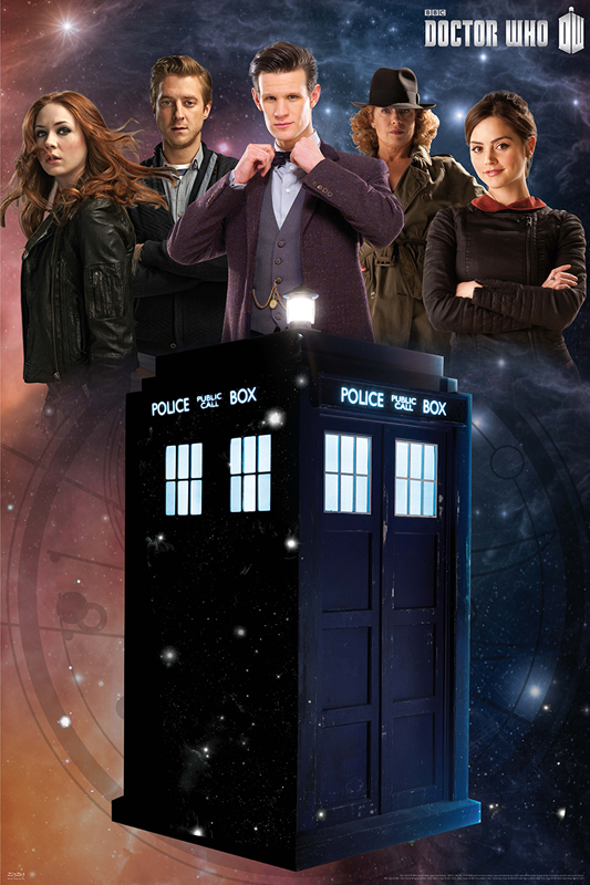 Doctor Who - Glow in the Dark framed poster