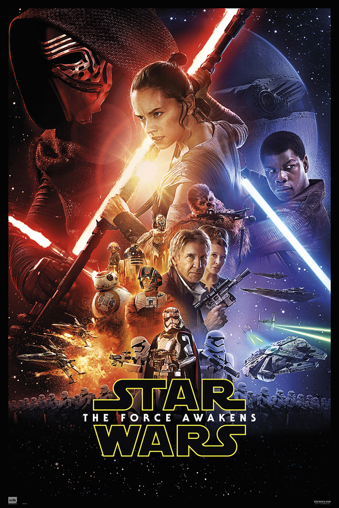 Star Wars: Episode VII - The Force Awakens framed poster