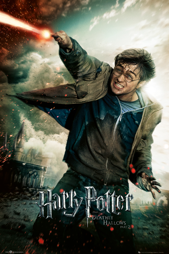 Harry Potter And The Deathly Hallows framed poster